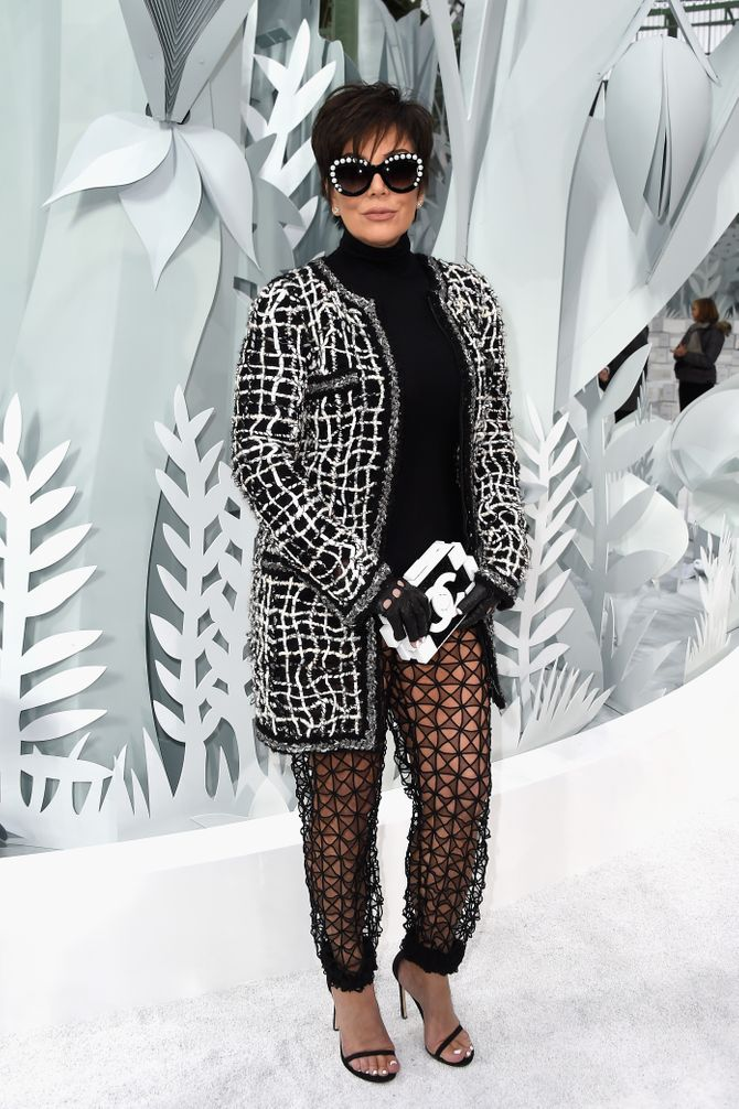 Kris Jenner au défilé Chanel haute couture printemps/été 2015