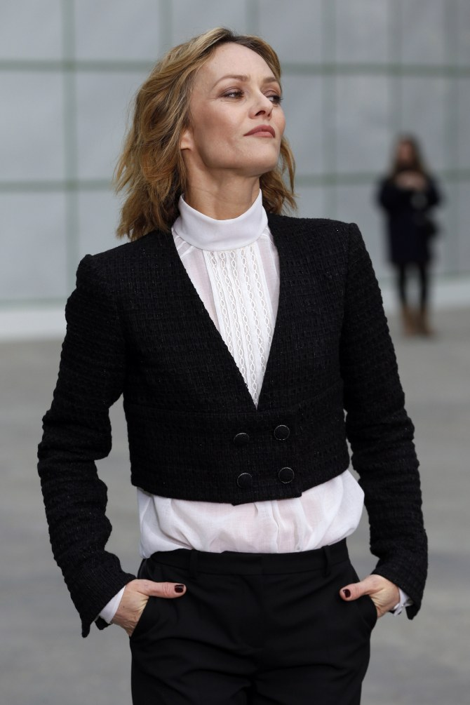 Vanessa Paradis au défilé Chanel haute couture printemps/été 2015