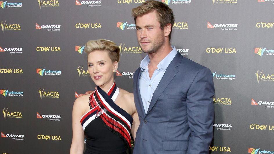 Chris Hemsworth a tapé dans l'œil de Scarlett Johansson