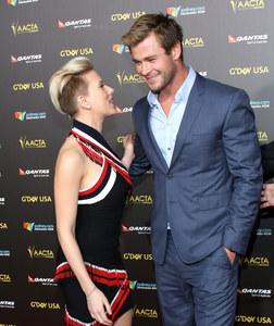 Scarlett Johansson et Chris Hemsworth au G'Day USA Gala.