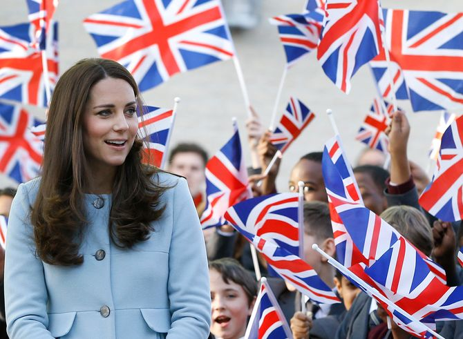Kate Middleton à un événement officiel.