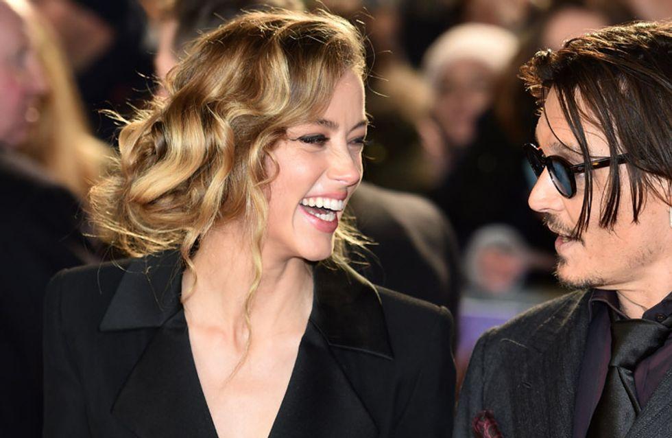 Johnny Depp y Amber Heard pasarán por el altar este fin de semana