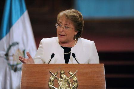 Michelle Bachelet lors de son discours.