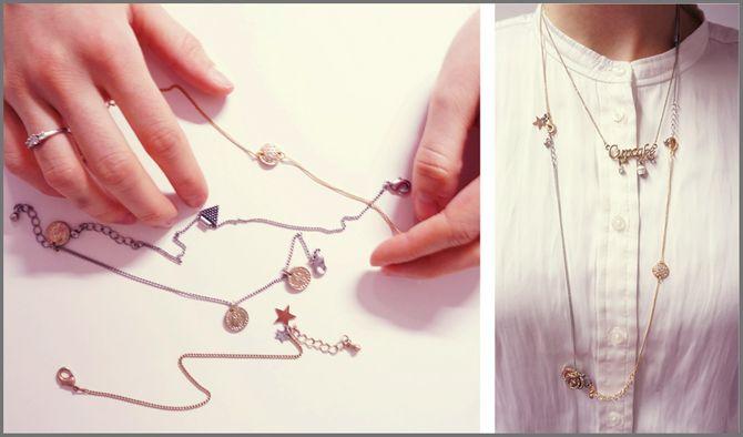 Halskette aus alten Armbändern