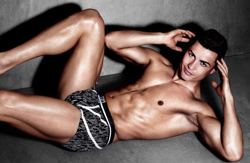 Cristiano Ronaldo dévoile ses abdos en béton pour sa nouvelle collection de caleçons (Photos et vidéo)
