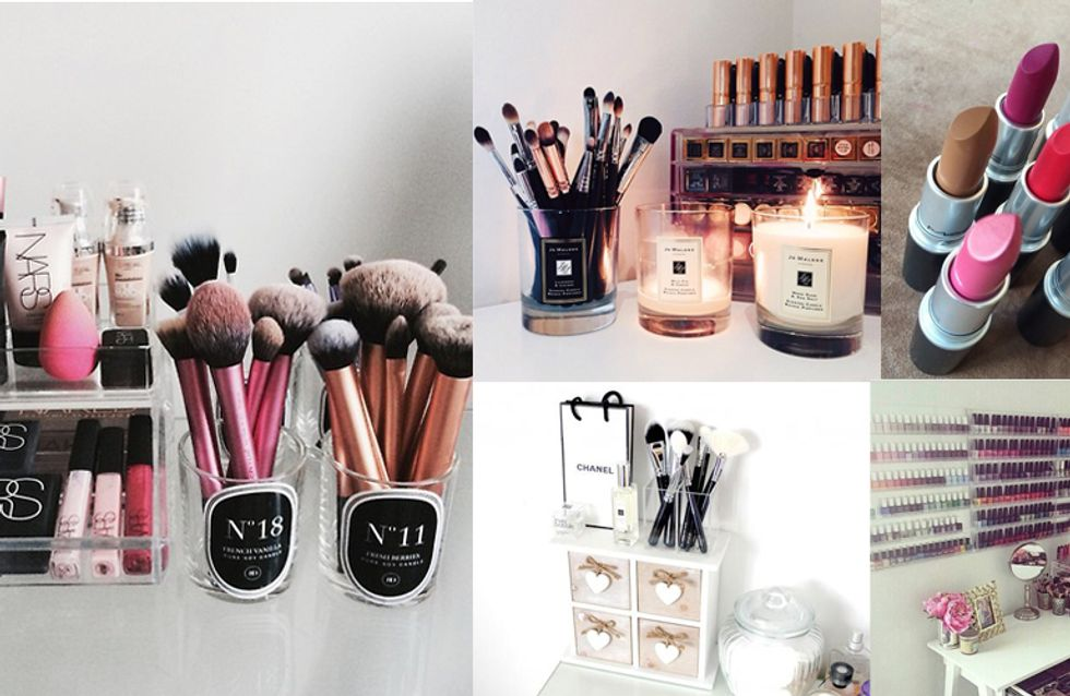 Voilà! 10 Creative Ways To Organise Your Beauty Products