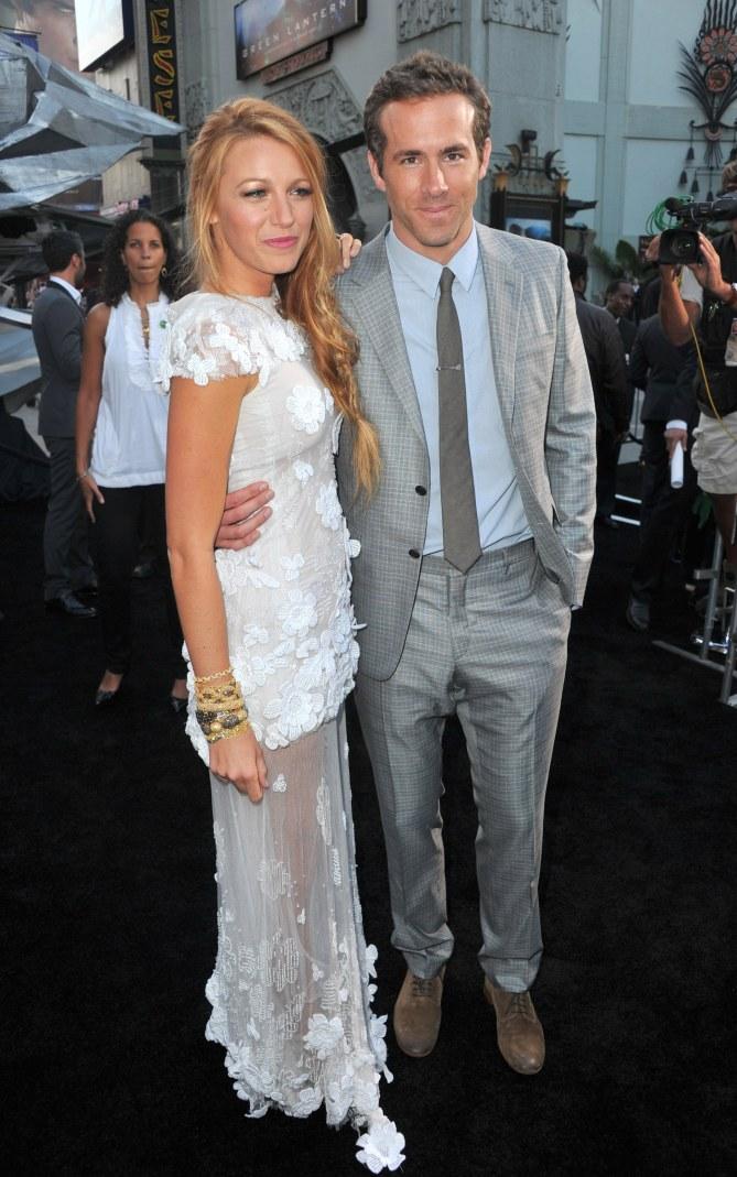 Blake Lively et Ryan Reynolds à une première.