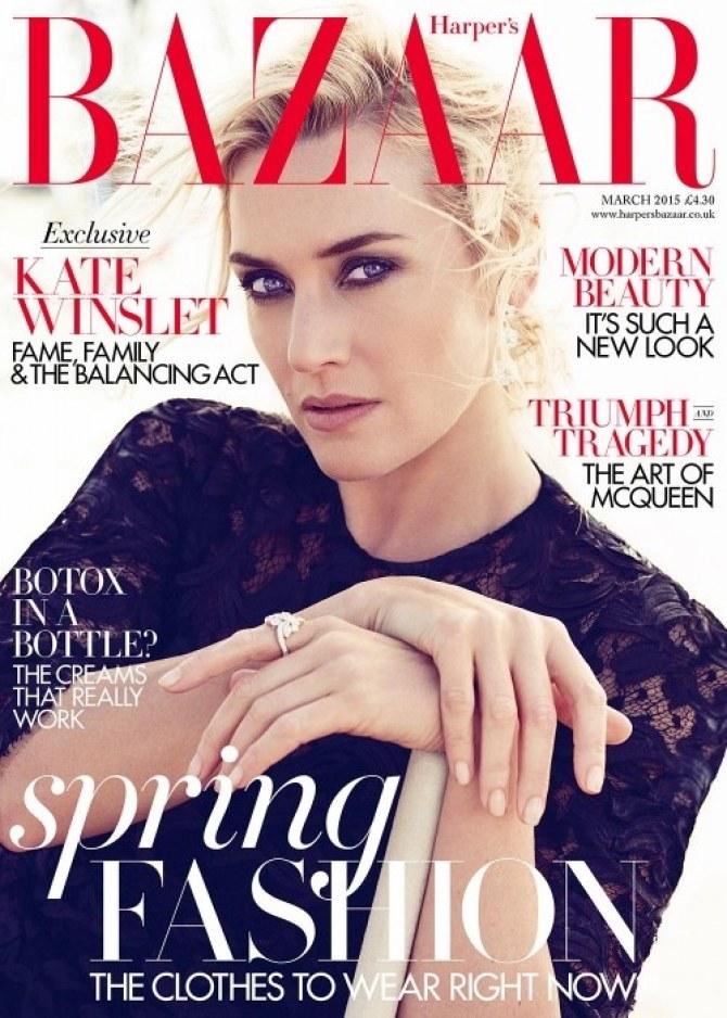 Kate Winslet pour le Harper's Bazaar.