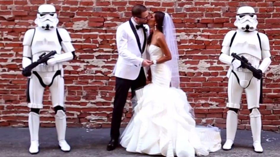 Hochzeit im Star Wars-Look: Einfach nur heiraten, war diesem Paar wohl zu langweilig