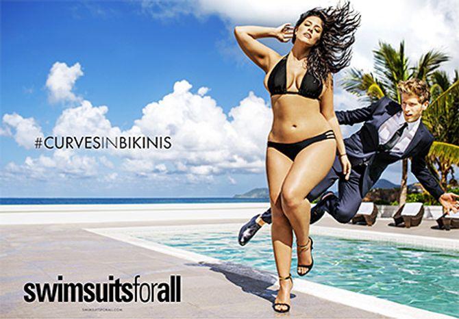 La campagne Curves in Bikinis de swimsuitsforall