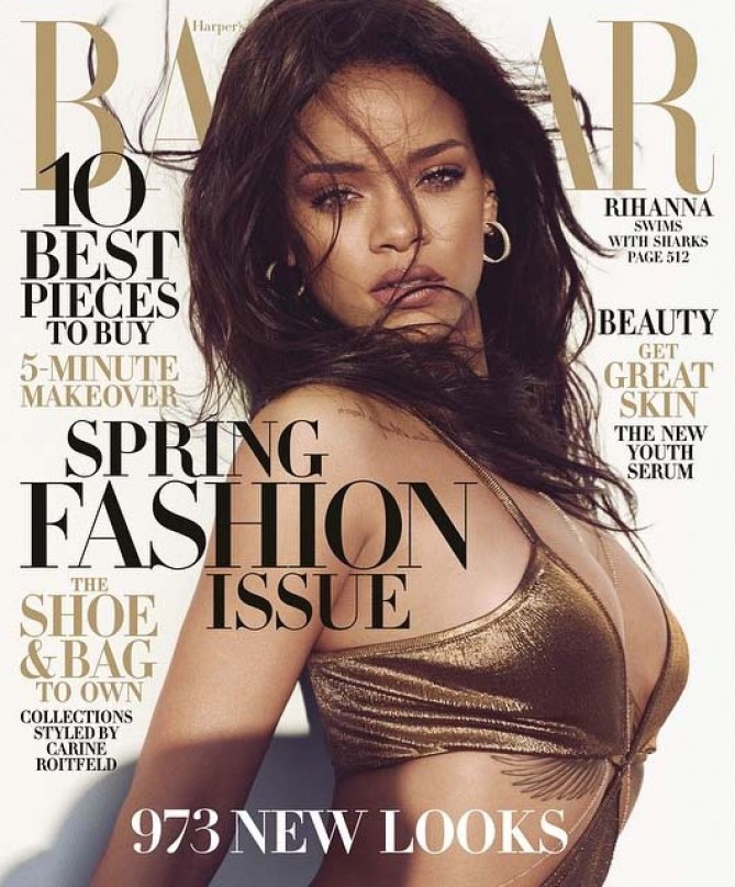 Rihanna pour le Harper's Bazaar.