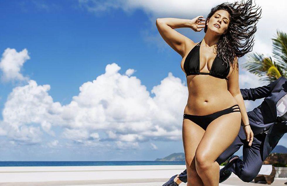 Ashley Graham ist das erste Plus-Size-Model in der 'Sports Illustrated'