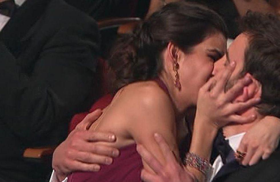 El beso de Clara Lago a Dani Rovira, el momento de los Goya 2015