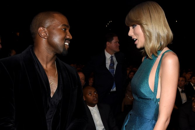 Taylor Swift et Kanye West aux Grammy Awards