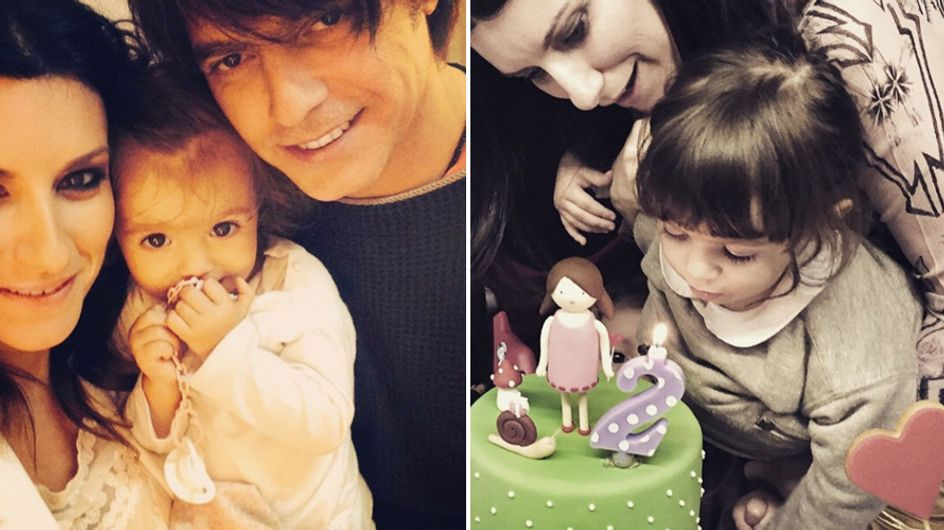 Laura Pausini festeggia il 2° compleanno della figlia Paola. Ecco gli scatti più dolci!