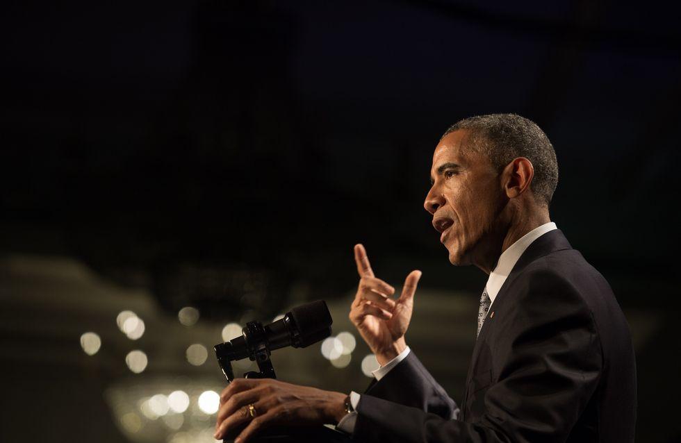 Barack Obama lance un appel contre les violences faites aux femmes lors des Grammy Awards