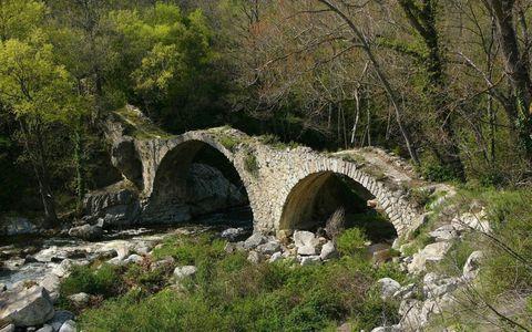 Puente Antiguo, ubicado al sur de Francia