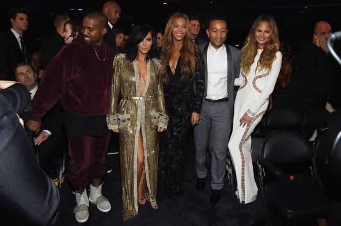 Kanye West, Kim Kardashian, Beyoncé, John Legend, Chrissy Teigen.