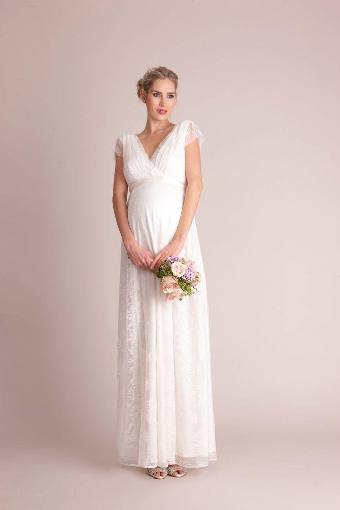 Robe de mariée de maternité en dentelle, Séraphine - 259 €