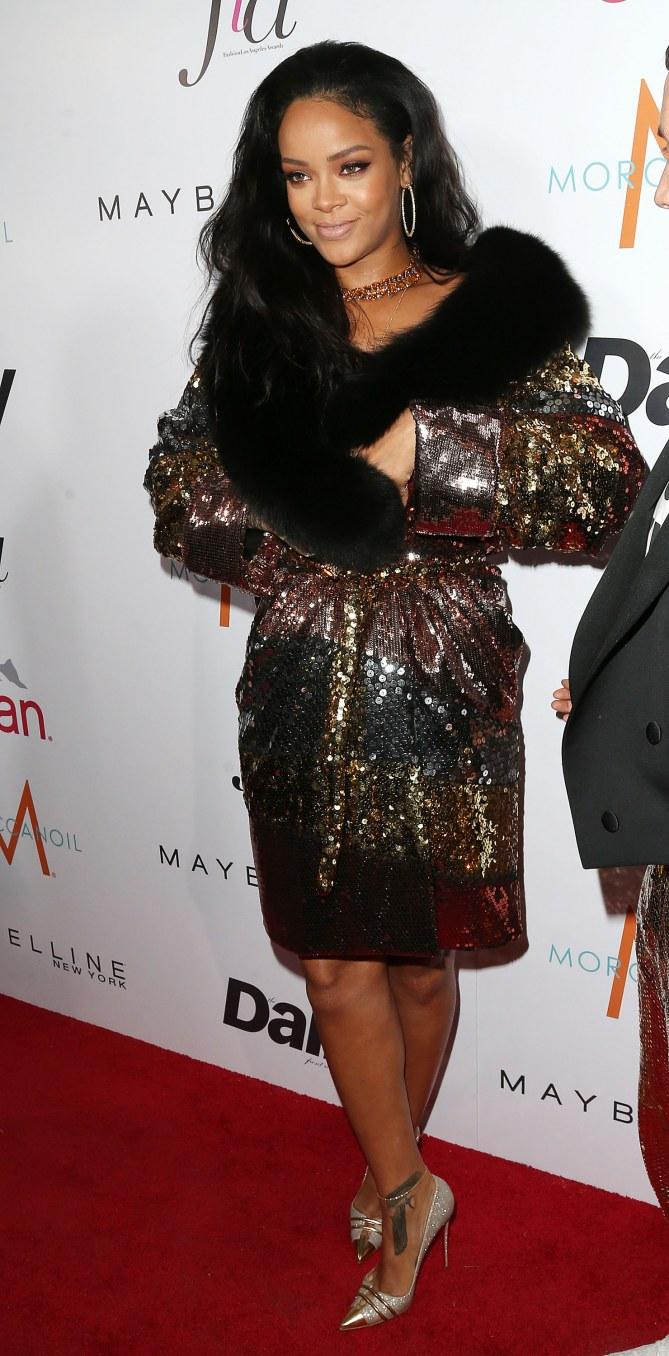 Rihanna sur le red carpet.