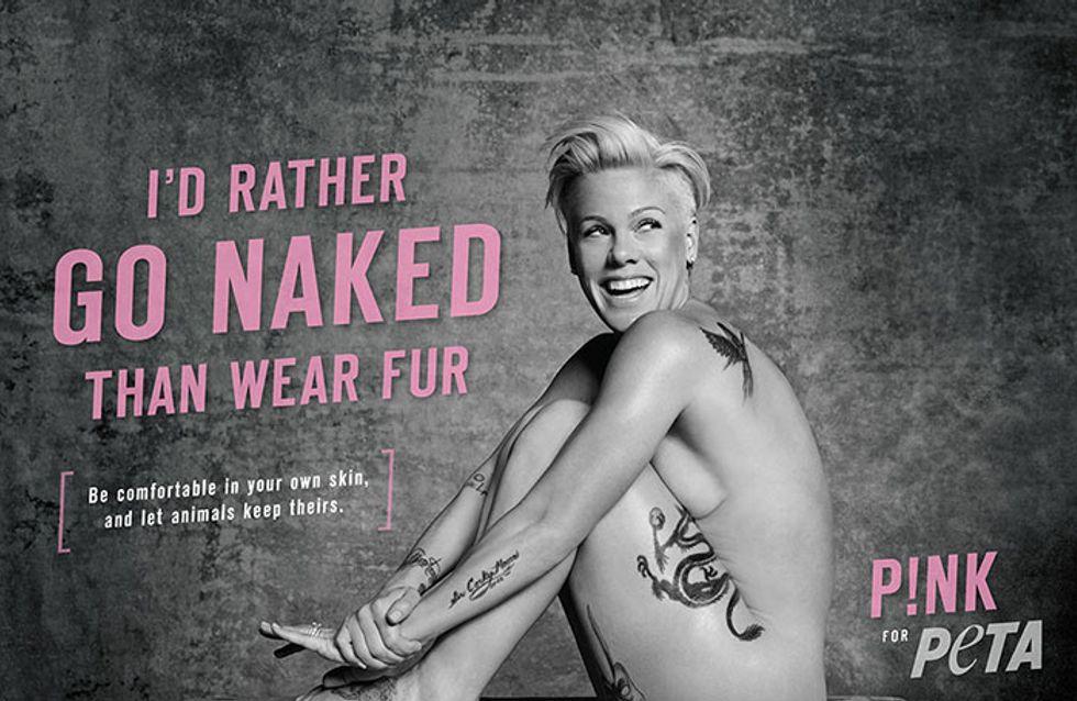 Pink se met à nu pour PETA (Photo)