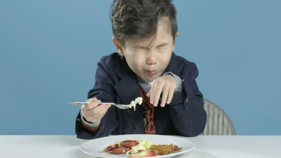 DAS passiert, wenn amerikanische Kinder Essen aus anderen Ländern probieren