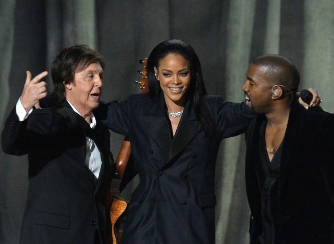 Paul McCartney, Rihanna et Kanye West.