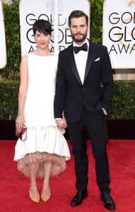 Amelia Warner et Jamie Dornan aux Golden Globes.