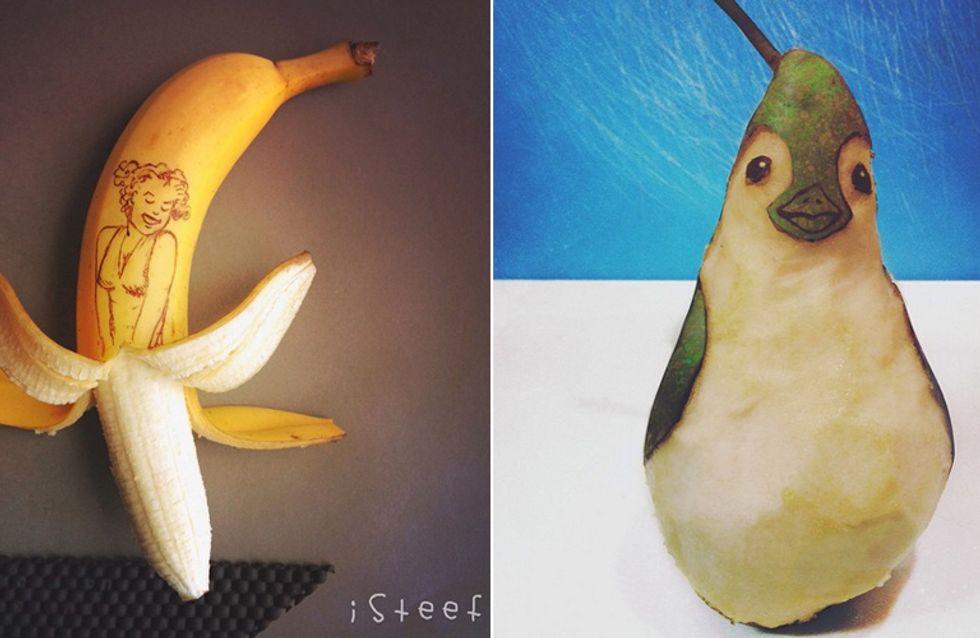 Wenn aus einer Banane Marilyn Monroe wird, sieht das SO aus!