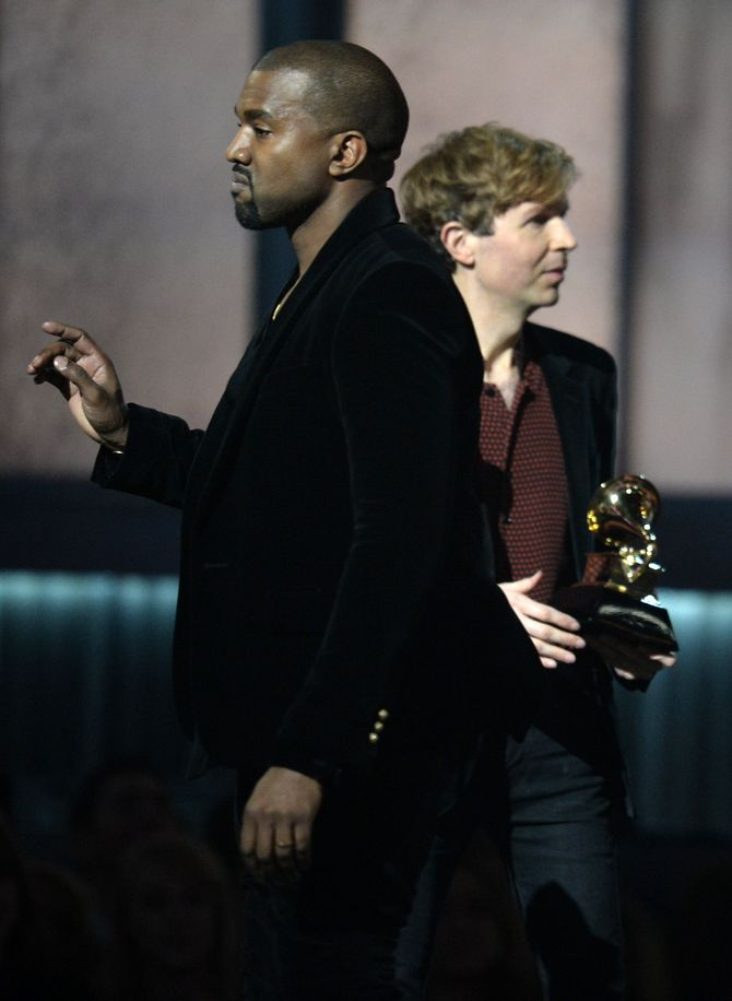 Kanye West et Beck aux Grammy Awards 2015