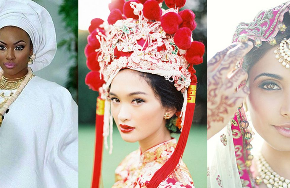 Bridal Style! 10 Images Of Beautiful Brides From Different Cultures Around The World
