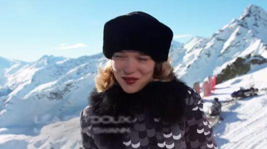 Léa Seydoux sur le tournage de Spectre