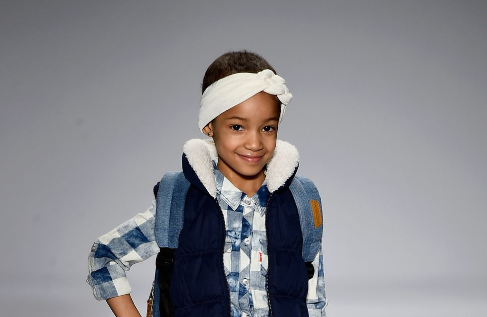 A 4 ans, elle défile à la Fashion Week après un traitement contre le cancer