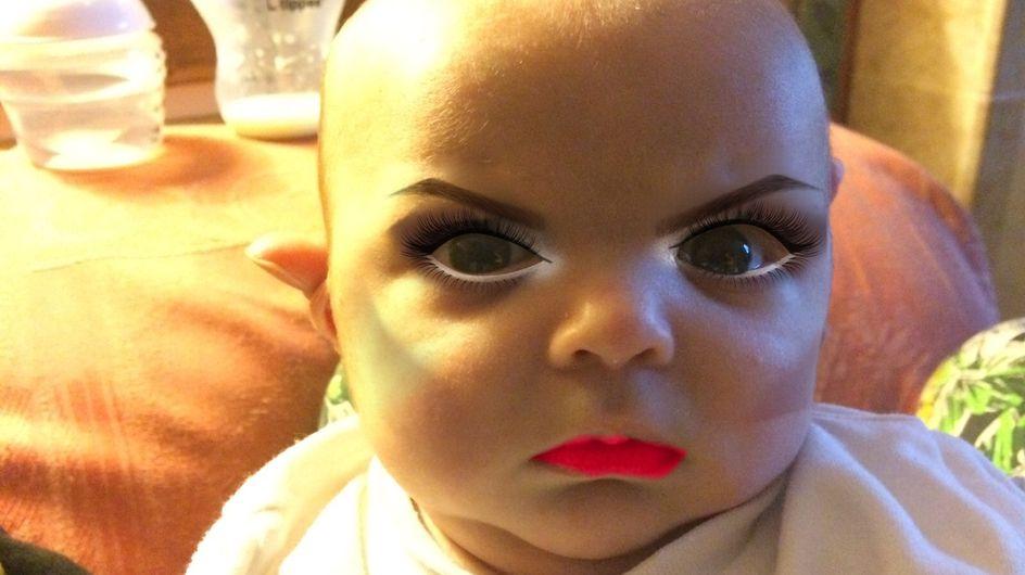 Cette maman utilise une application pour maquiller son fils de seulement 7 semaines ! (photos)