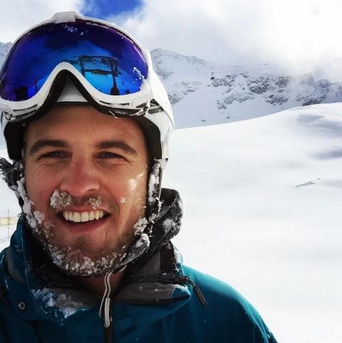 Harry Wentworth-Stanley au ski.