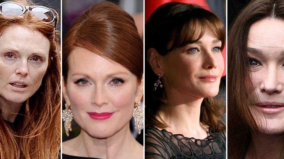 Trova le differenze: le foto delle celebrities prima e dopo il make-up