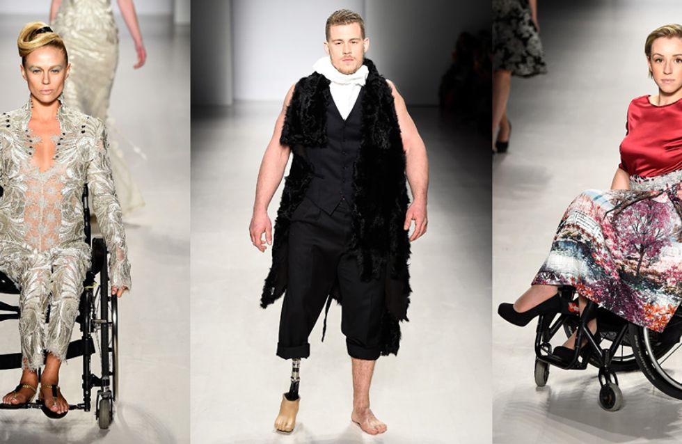 Des mannequins handicapés défilent à la Fashion Week de New York