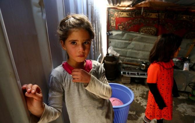 Des enfants ayant fui les violences en Irak