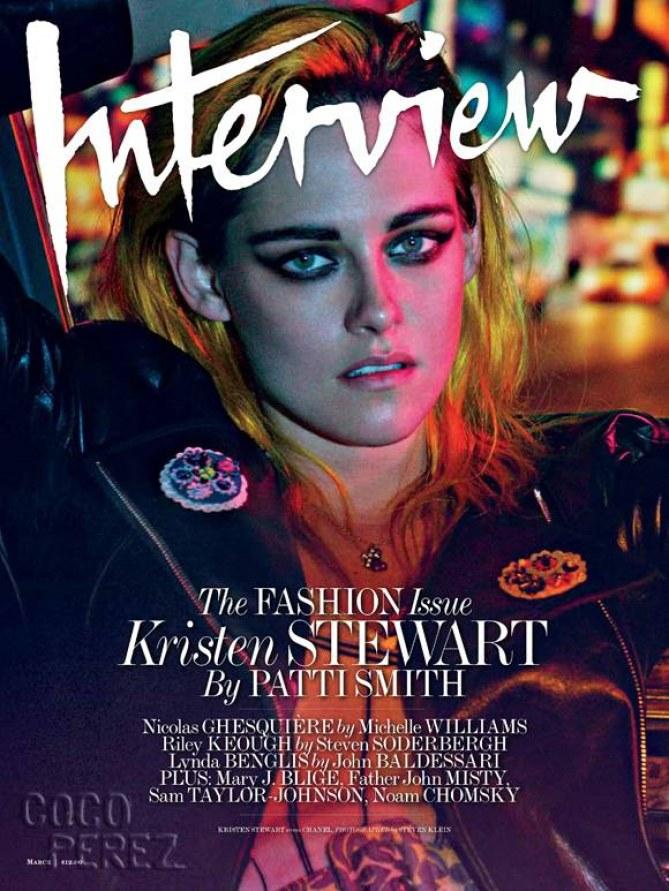 Kristen Stewart en couverture de Interview Magazine