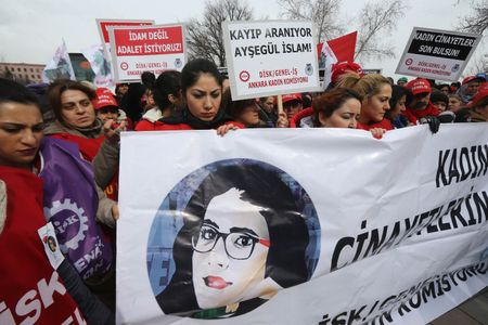 Manifestation contre les violences faites aux femmes, Turquie, le 17 février