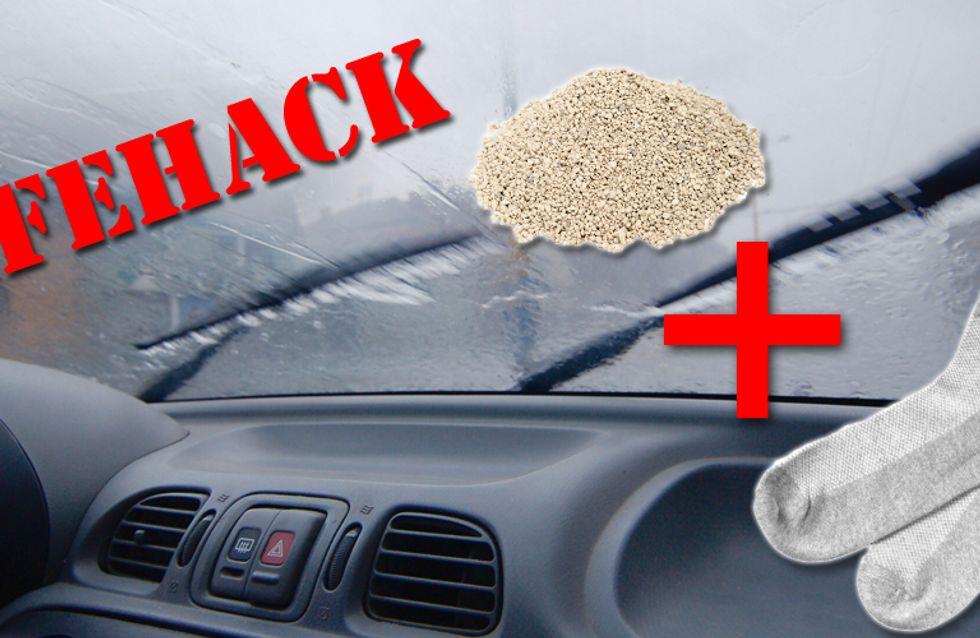 Ultimativer Lifehack: Nie wieder beschlagene Scheiben im Auto!