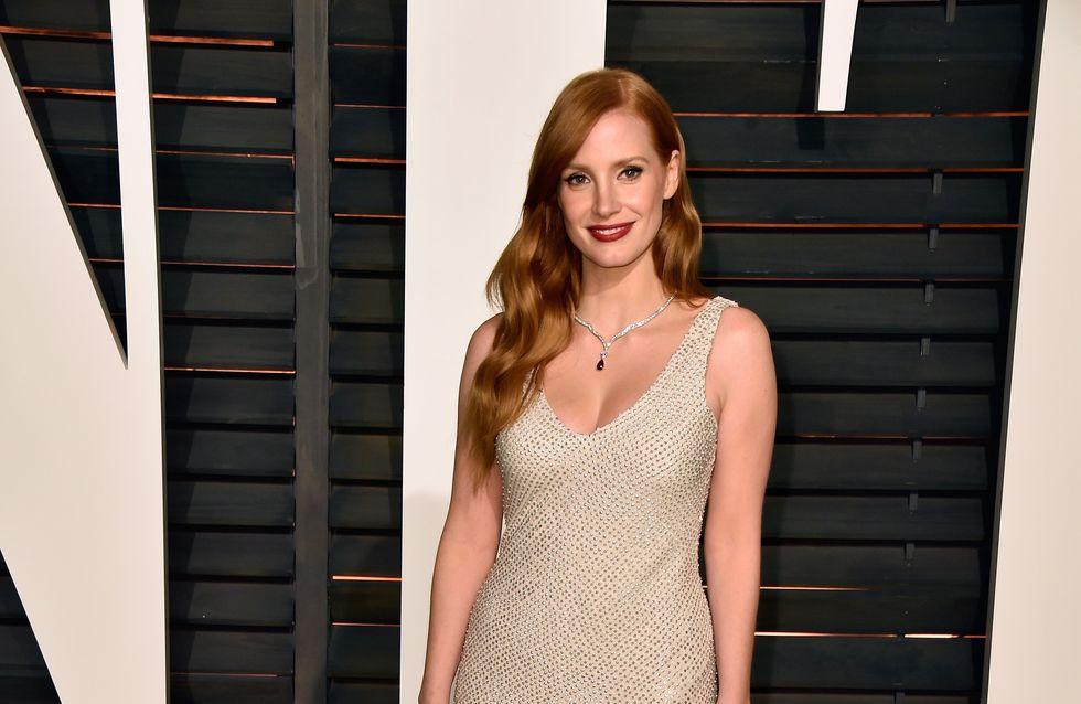 Jessica Chastain en H&M pour l'after party des Oscars 2015 (Photos)