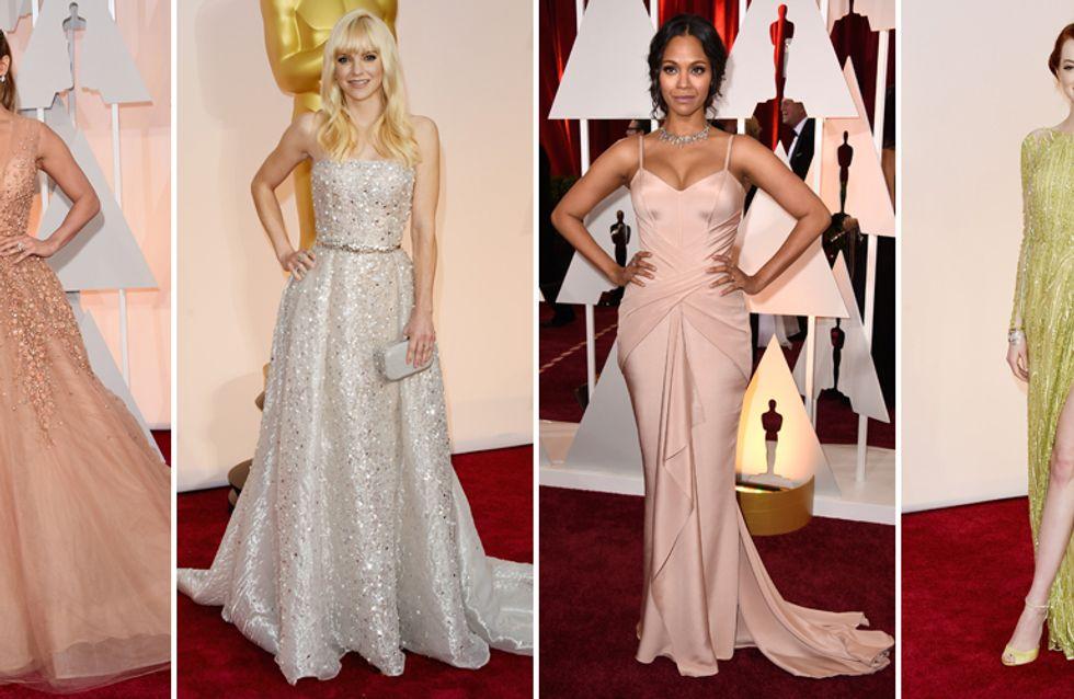 Outfit uguali, nuvole di cipria e trionfo del cristallo: look e curiosità del red carpet degli Oscar!