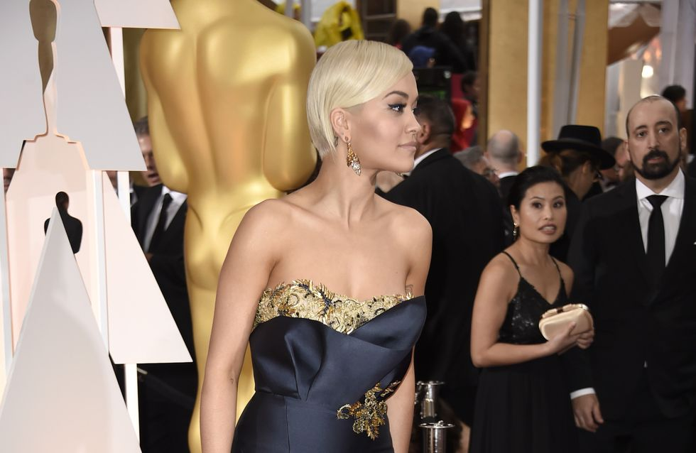 Rita Ora, quasiment nue à l'after party des Oscars (Photos)