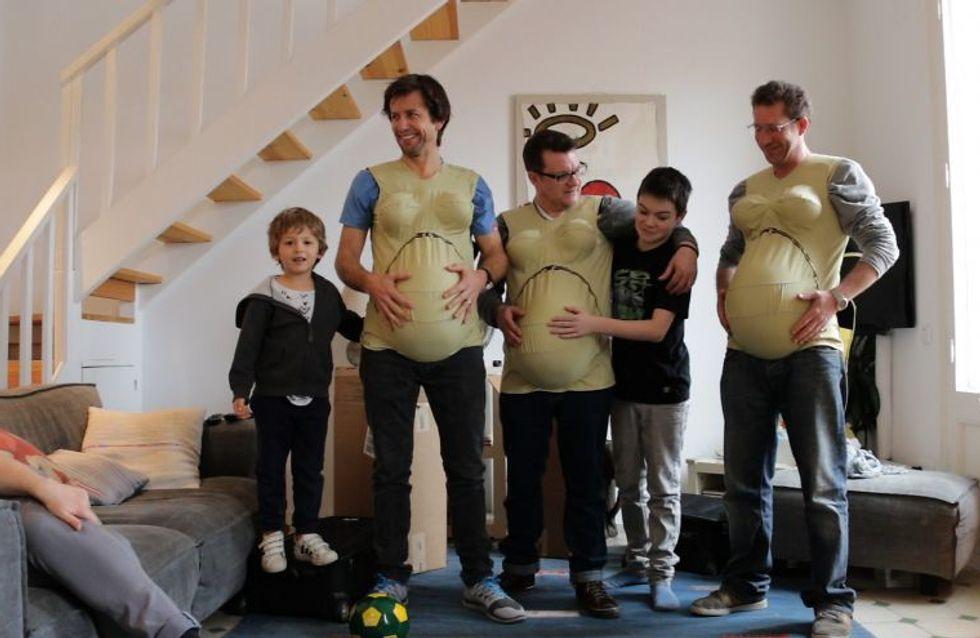 """3 papas décident de """"tomber enceintes"""" pour comprendre les femmes !"""
