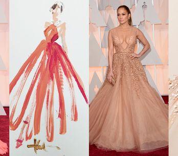 Gli abiti più belli degli Oscar in versione acquerello. I bozzetti poetici di Pa