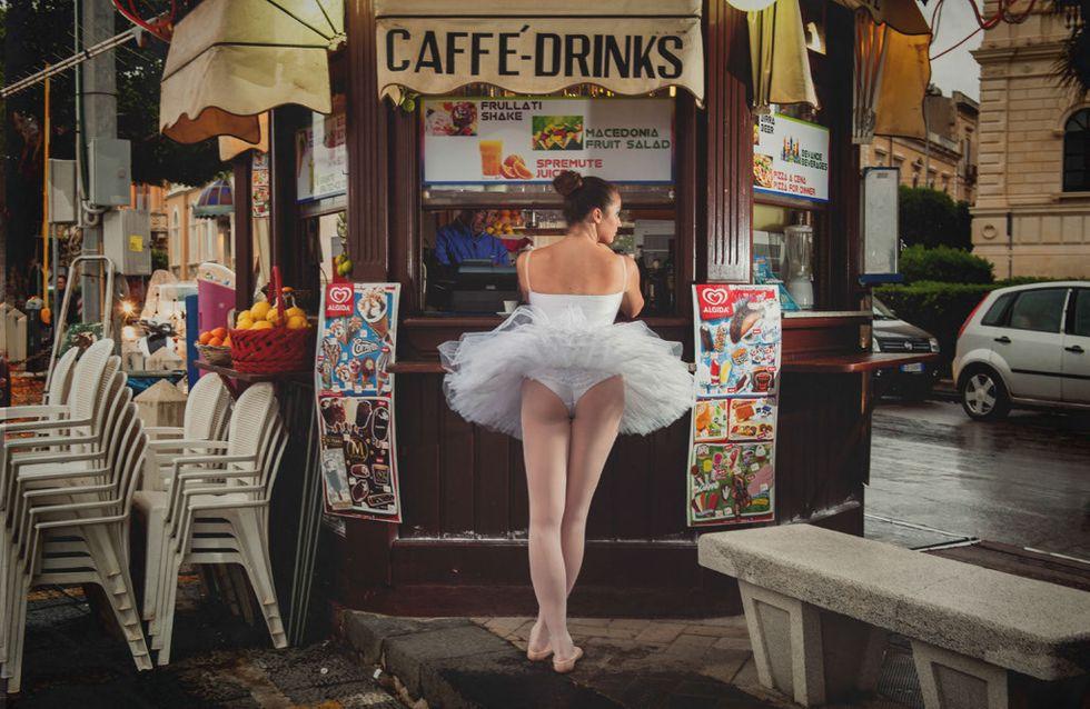 Il prend de magnifiques photos de ballerines dans des lieux étonnants
