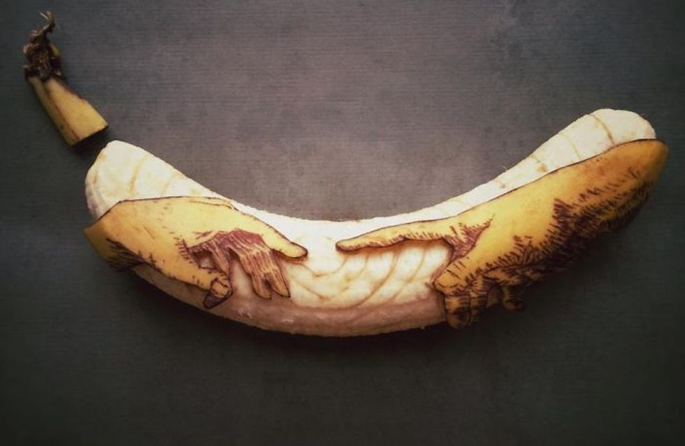 Plátanos convertidos en increíbles obras de arte
