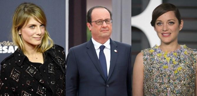 Mélanie Laurent, François Hollande et Marion Cotillard