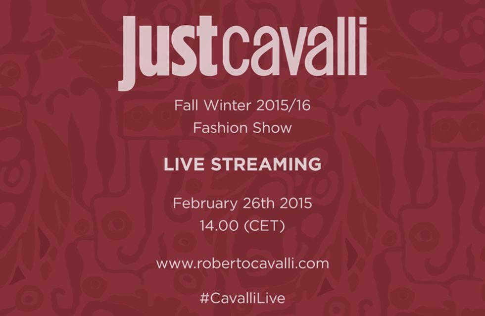 Video/ Just Cavalli: la sfilata per la stagione autunno inverno 2015/2016